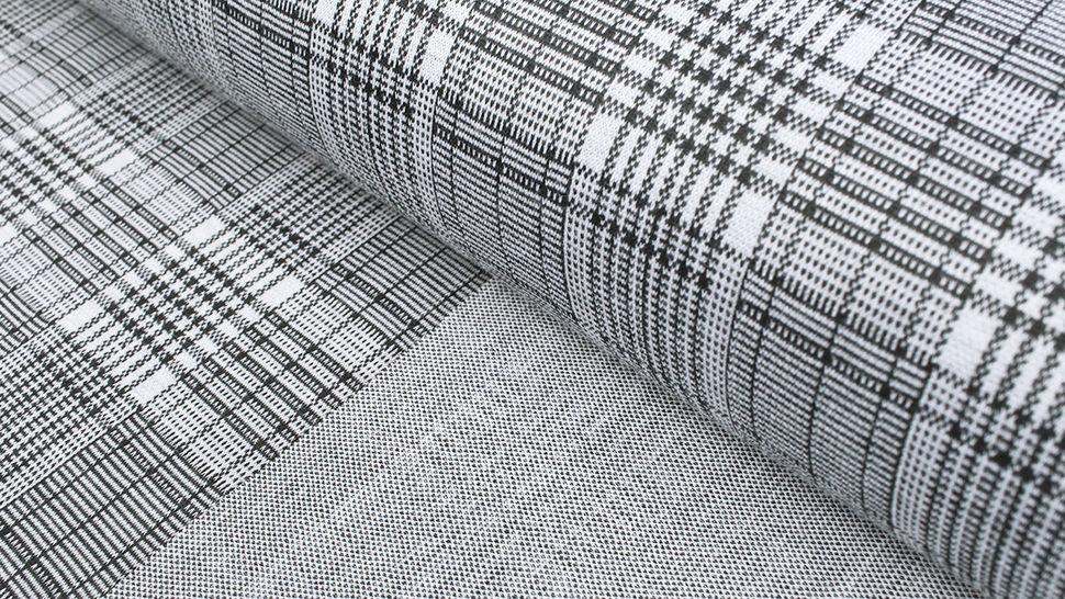 Elastischer Blazerstoff schwarz-weiß kariert: Check Stanford Black - 150 cm im Makerist Materialshop - Bild 2
