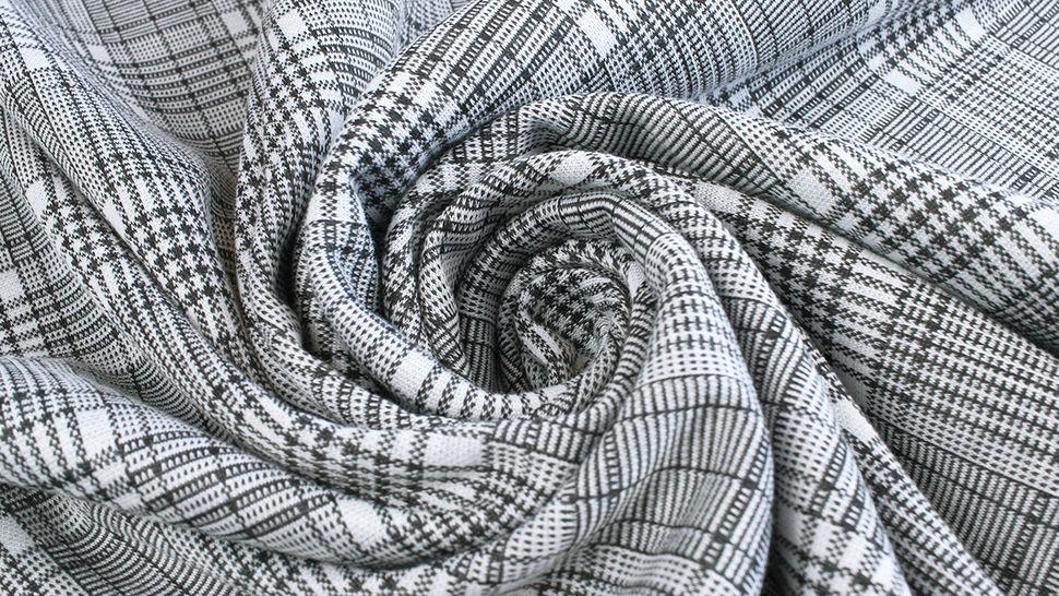 Elastischer Blazerstoff schwarz-weiß kariert: Check Stanford Black - 150 cm im Makerist Materialshop - Bild 4