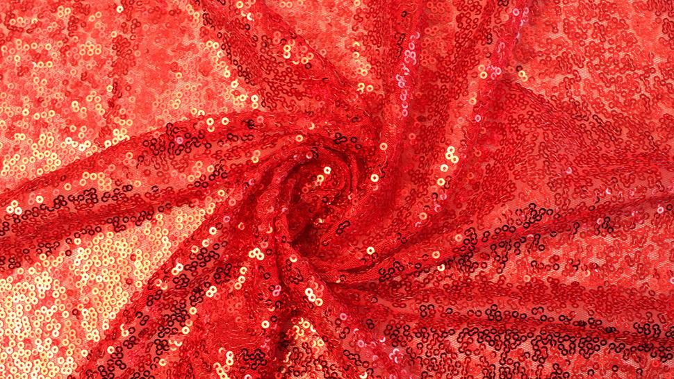 Paillettenstoff rot - 140 cm im Makerist Materialshop - Bild 2