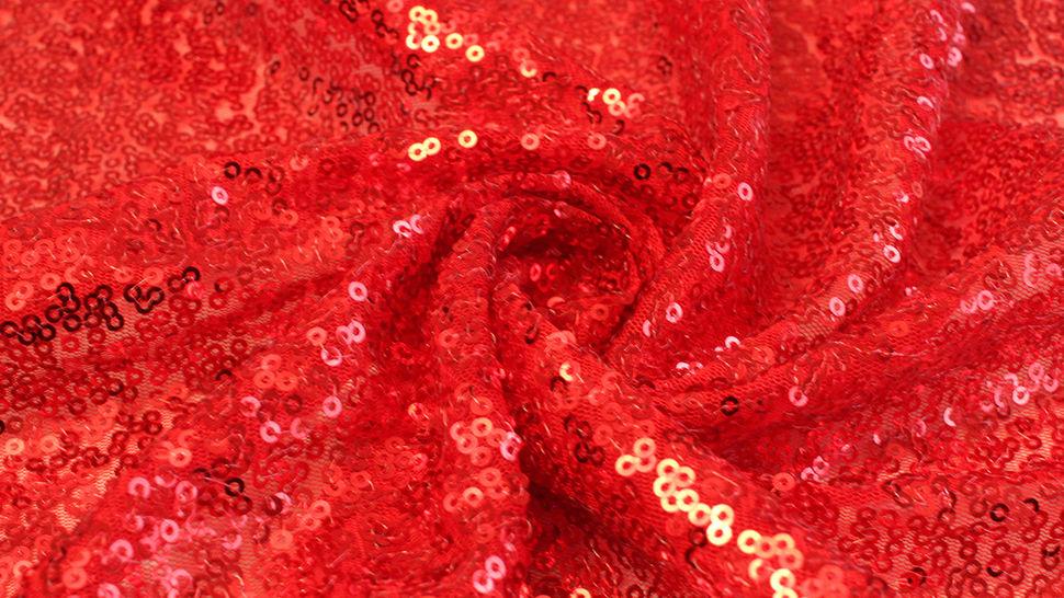 Paillettenstoff rot - 140 cm im Makerist Materialshop - Bild 3