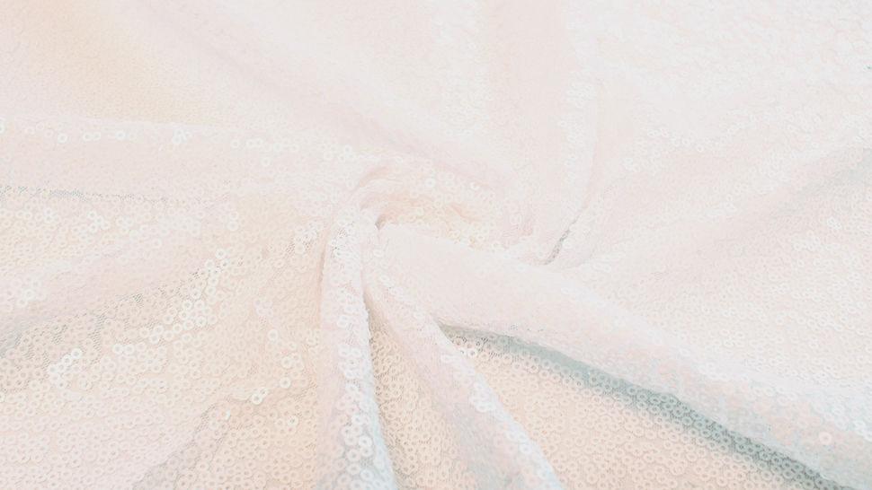 Paillettenstoff weiß - 140 cm im Makerist Materialshop - Bild 3