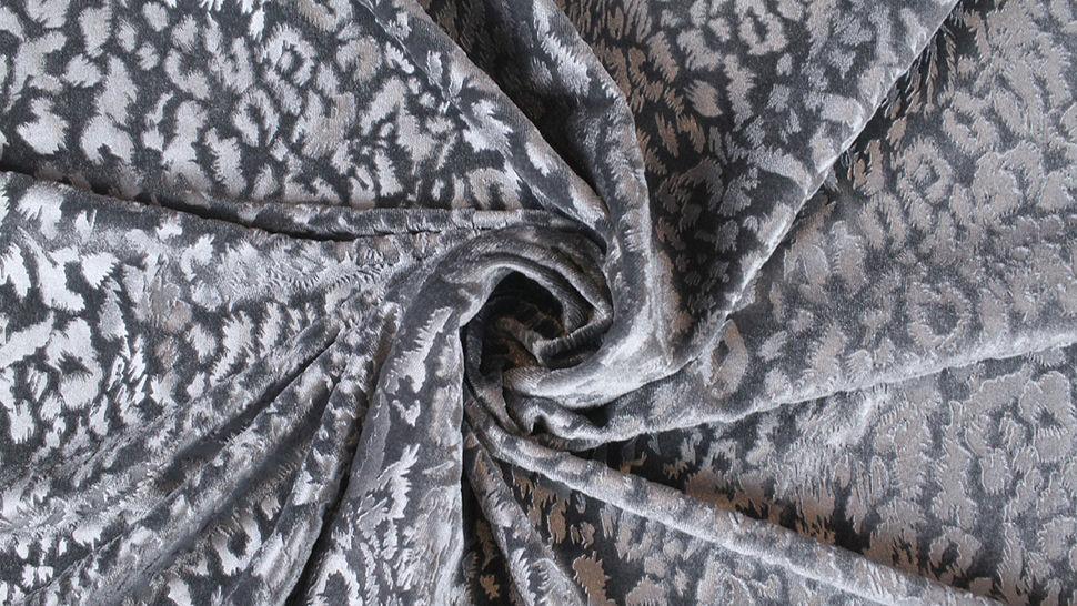 Samtstoff Stretch Animal Print: Leomuster - 165 cm im Makerist Materialshop - Bild 4