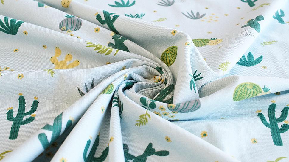 Baumwolljersey mint: Kaktuswüste - 145 cm im Makerist Materialshop - Bild 5
