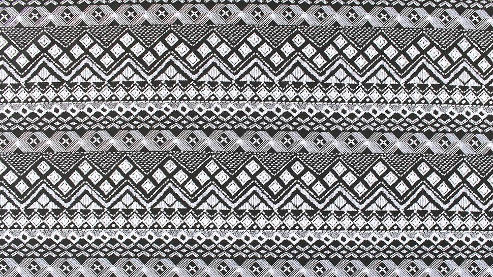 Bademodenstoff schwarz-weiß: Ethno-Muster - 155 cm im Makerist Materialshop - Bild 3