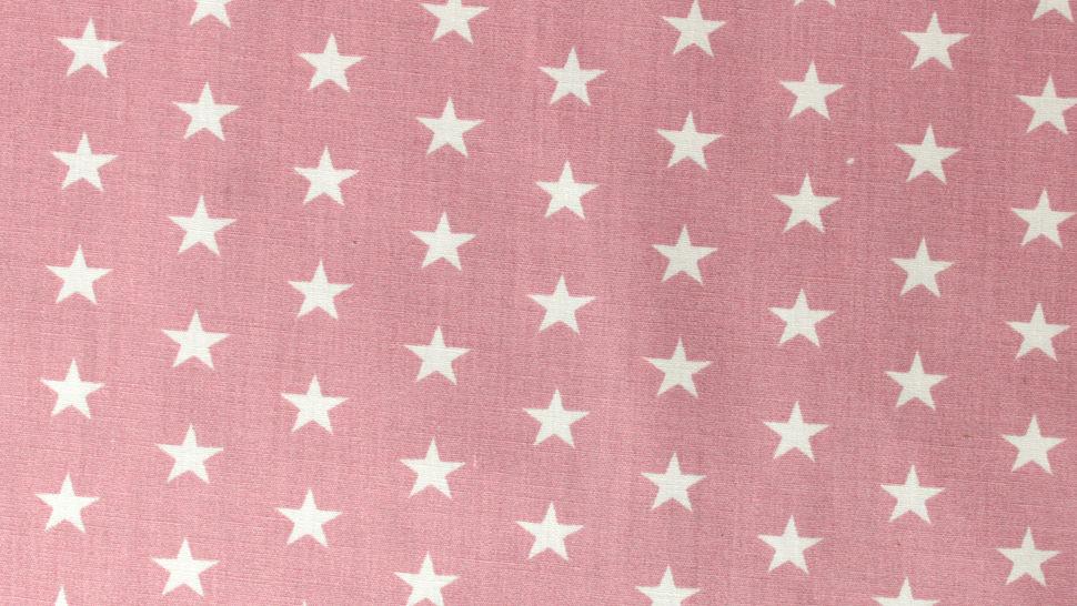 Baumwollstoff altrosa-weiß bedruckt: Stars - 150 cm im Makerist Materialshop - Bild 4