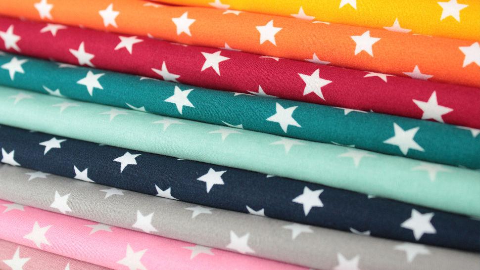 Baumwollstoff altrosa-weiß bedruckt: Stars - 150 cm im Makerist Materialshop - Bild 5