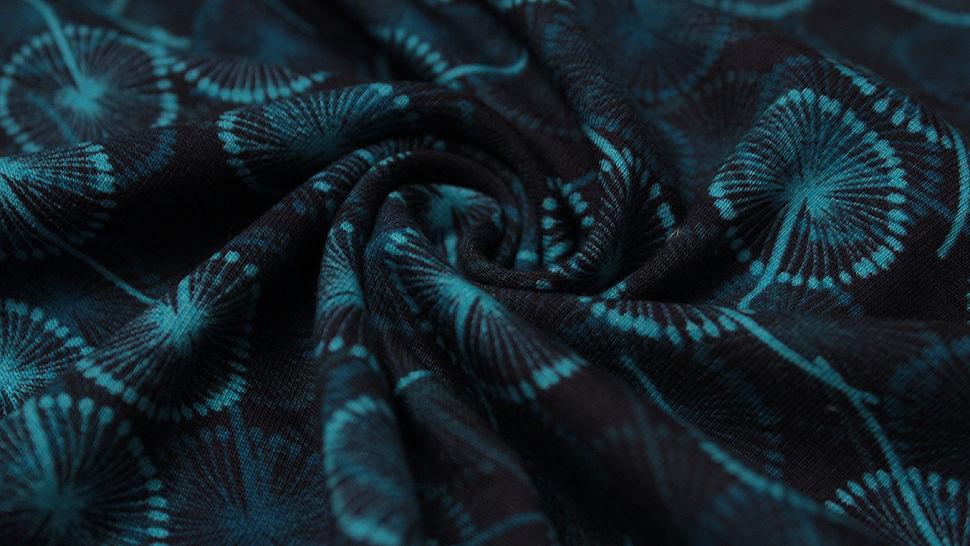 Jerseystoff navy bedruckt: Avalana blaue Pusteblumen - 162 cm im Makerist Materialshop - Bild 4