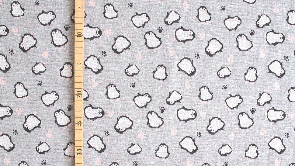 Jacquardstoff Rapport grau: Pinguin - 150 cm im Makerist Materialshop - Bild 6