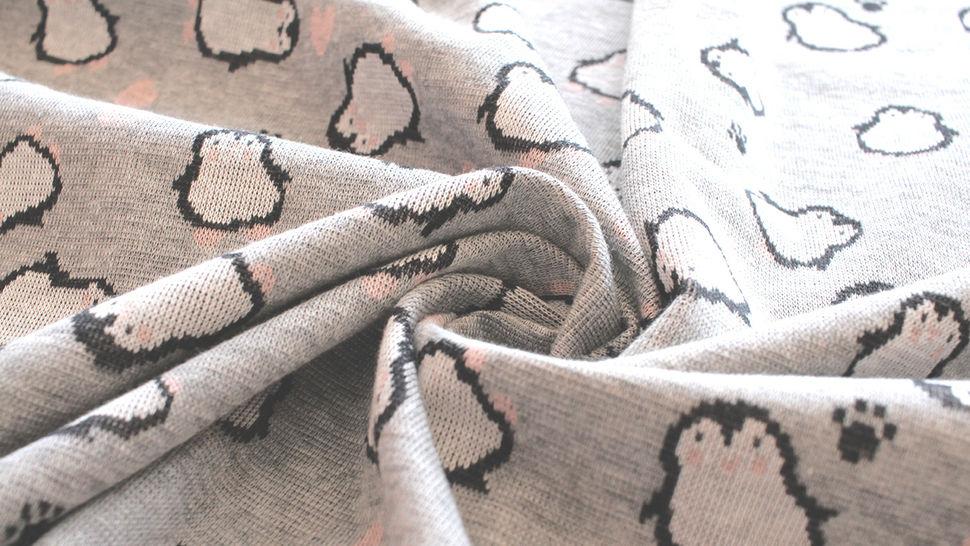 Jacquardstoff Rapport grau: Pinguin - 150 cm im Makerist Materialshop - Bild 10