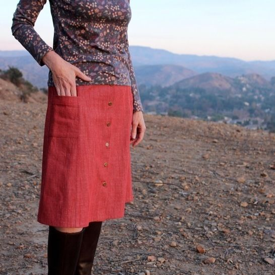 Ally Skirt PDF Pattern - Blue Dot Patterns