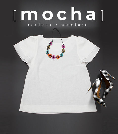 MOCHA Double Layered Sleeve Blouse PDF Pattern (#2039)