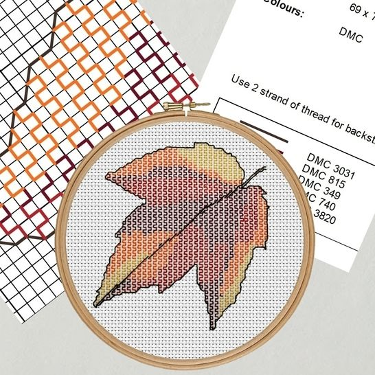 Maple Leaf Embroidery Pattern