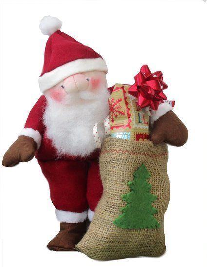 Santa Claus soft toy sewing pattern. Digital PDF