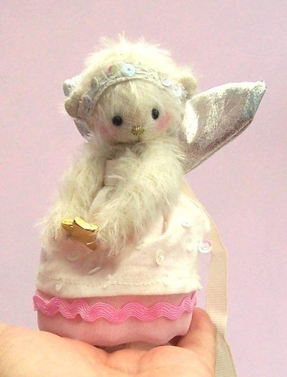 "Fairy bear soft toy sewing pattern.5"" high teddy bear"