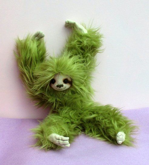 Spencer soft toy sloth digital sewing pattern