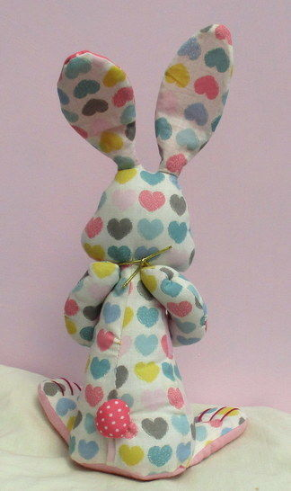 Cauliflower rabbit soft toy sewing pattern