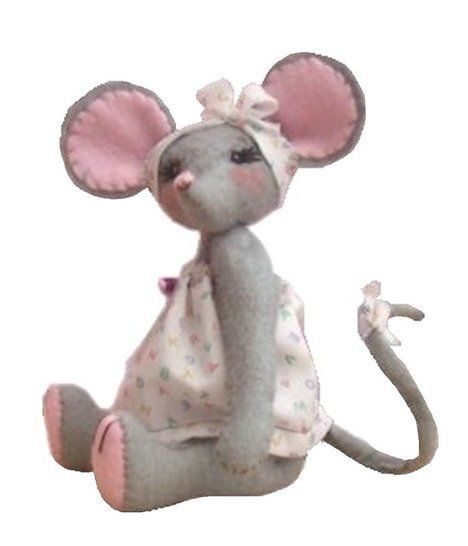 Miss Stitch soft toy mouse sewing pattern
