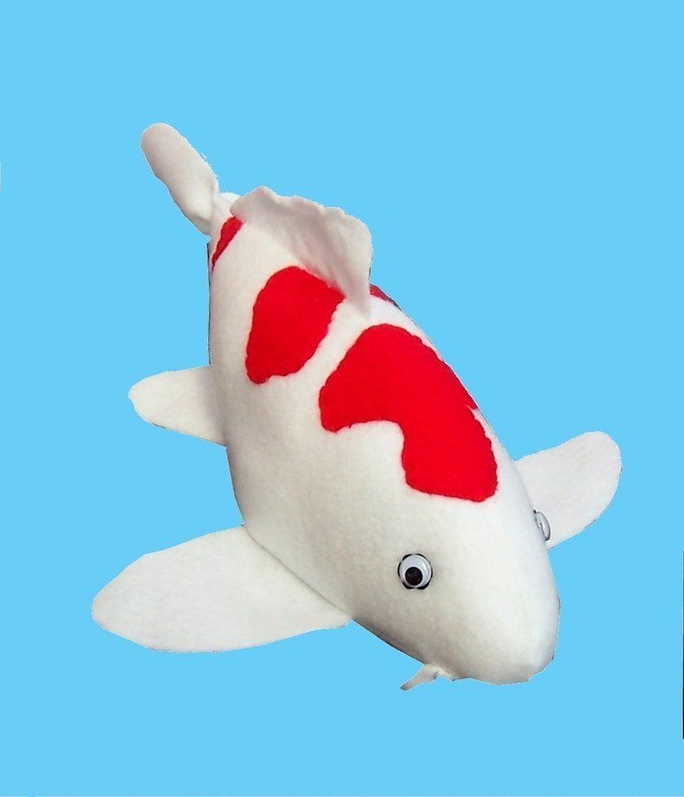 Koi Carp Fish Soft Toy Sewing Pattern