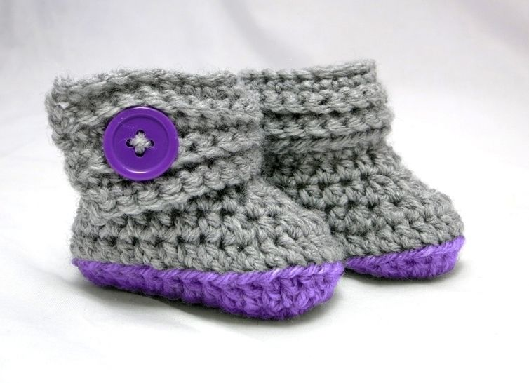 Buttoned Up Baby Booties and Beanie
