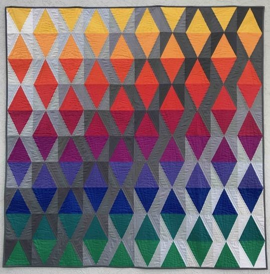 """Quilt Pattern """"Sky with diamonds"""" Throw Size"""