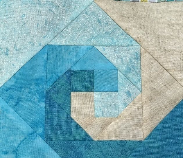 Waves Foundation Paper Pieced Quilt Block Pattern
