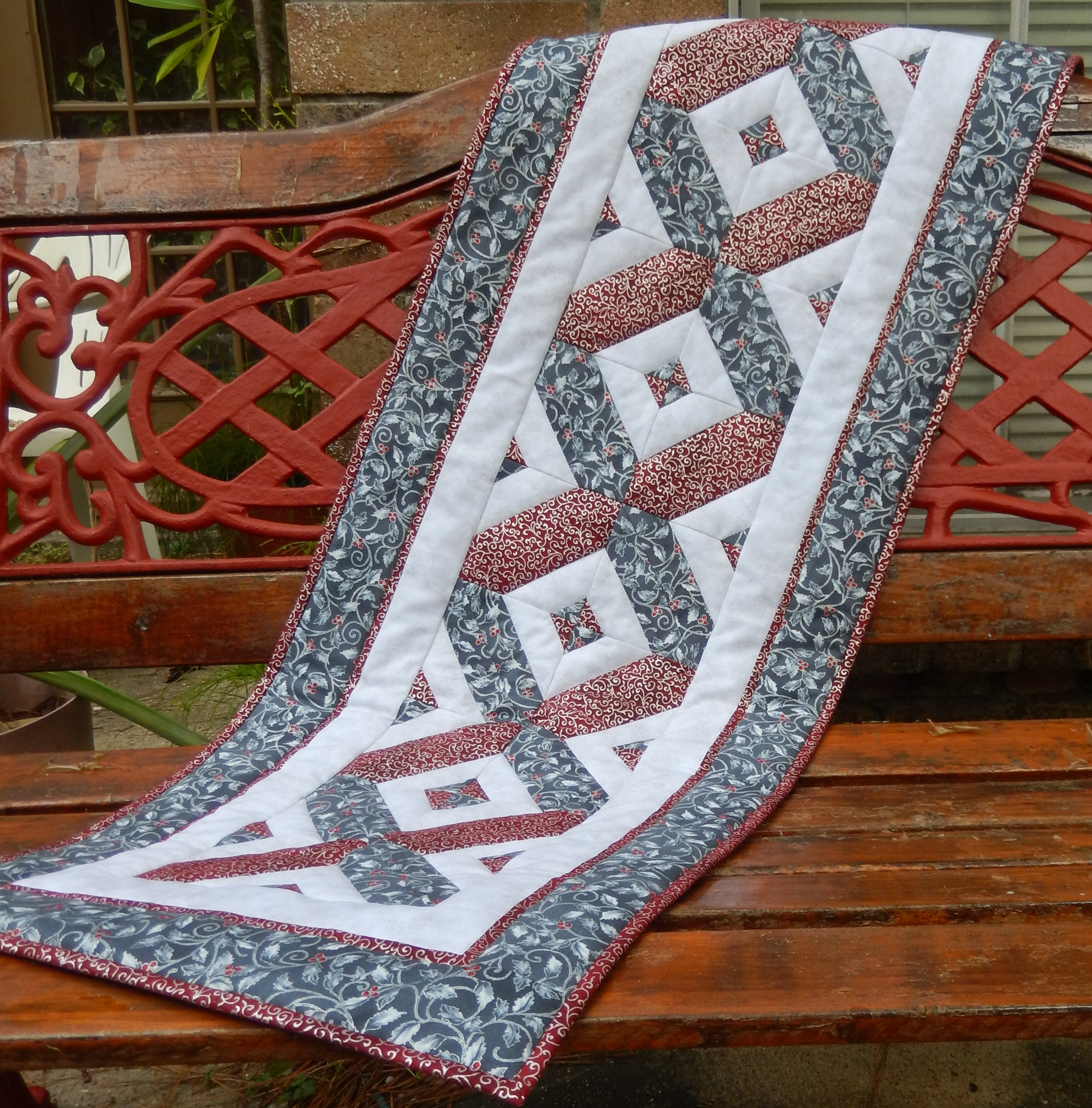 Festive Quilted Table Runner Pattern