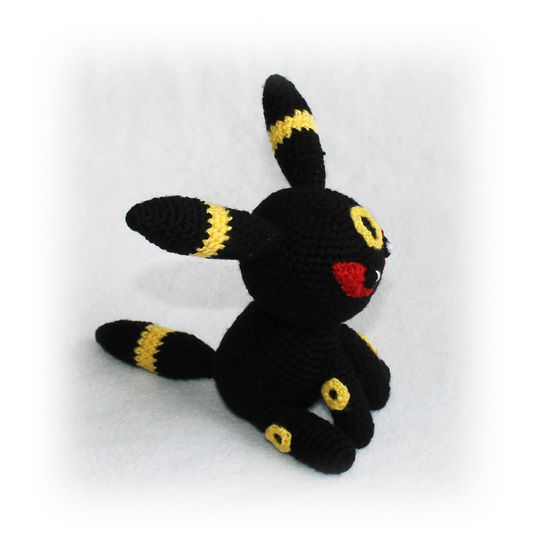 Chibi Umbreon amigurumi crochet #pokemon #umbreon #crochetpokemon ... | 546x535