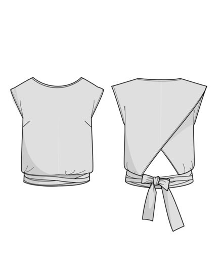 Epicea Blouse - sewing pattern + detailed instructions