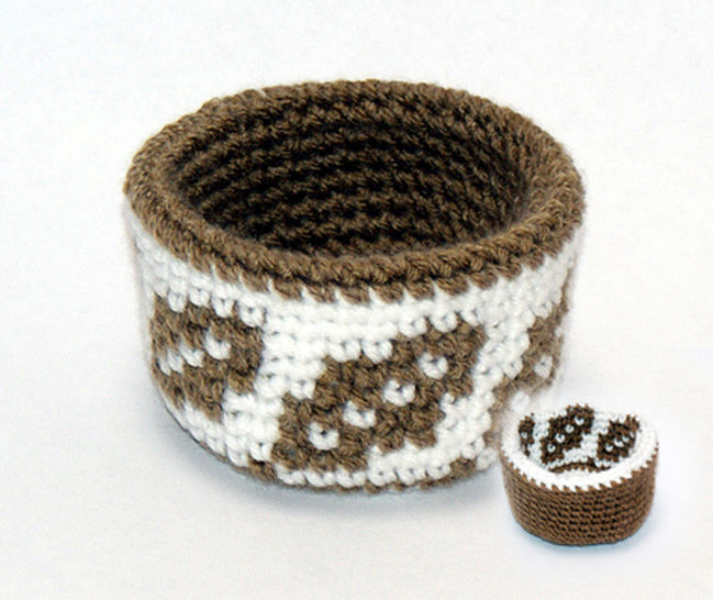 Reversible Forest Trio of Baskets