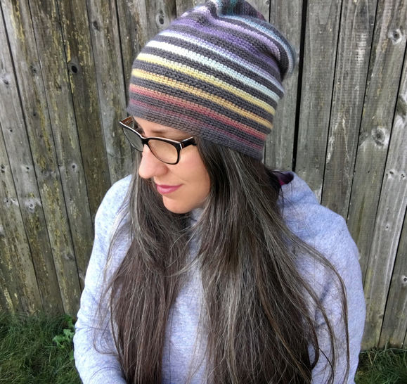 All Ages Very Versatile Striped Beanie
