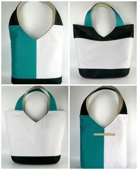 New Tote on the Block- shoulder bag tote sewing pattern