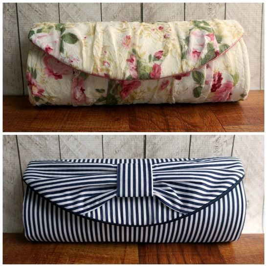 Barrelette Clutch- sewing pattern with three variations