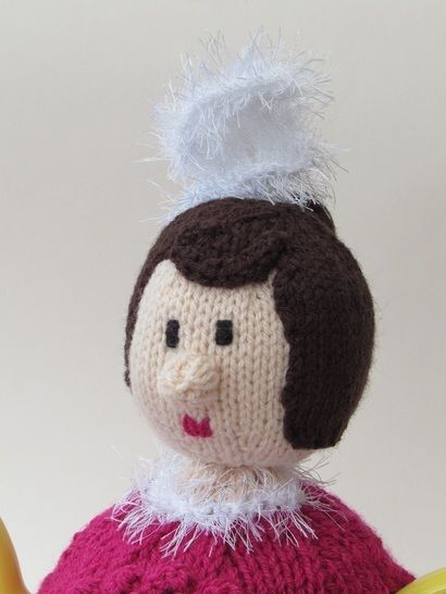 French can-can girl tea cosy