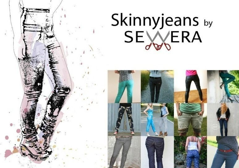 Skinnyjeans Schnittmuster & Anleitung by Sewera