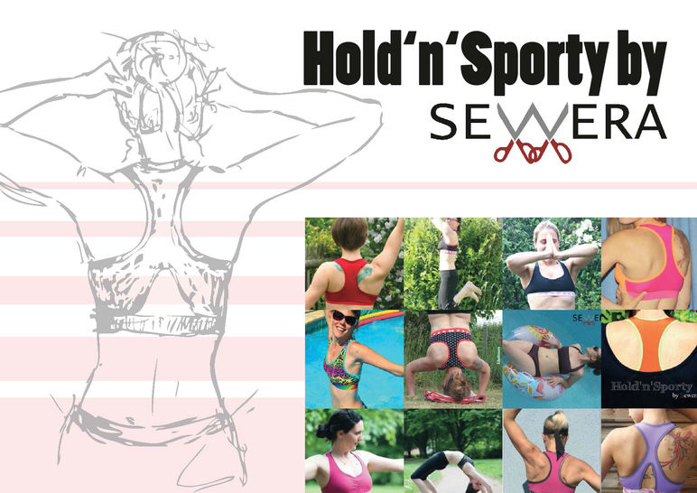 Hold'n'Sporty Sport BH Schnittmuster & Anleitung by Sewera