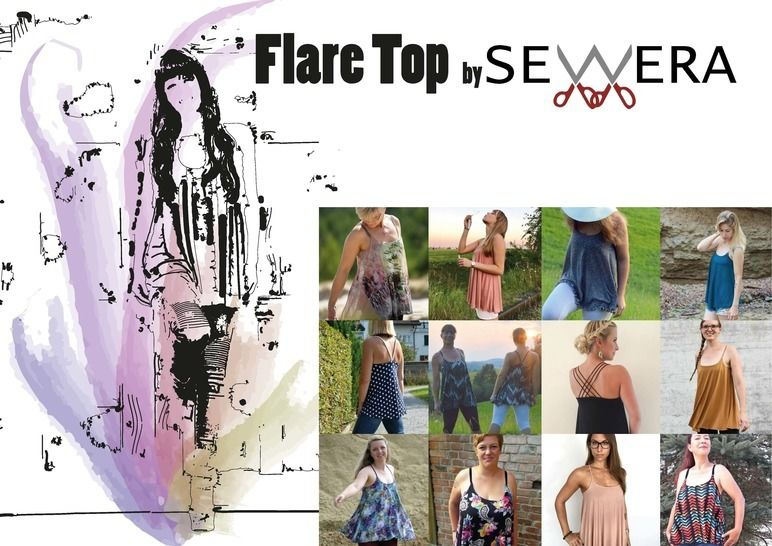 Flare Top Schnittmuster & Anleitung by Sewera