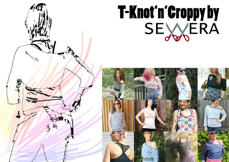 T-Knot'n'Croppy Schnittmuster & Anleitung by Sewera