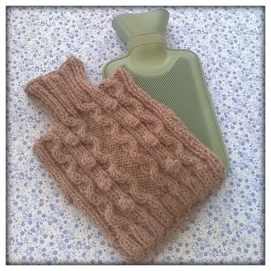 "Hot water bottle cover ""in the Navy"""