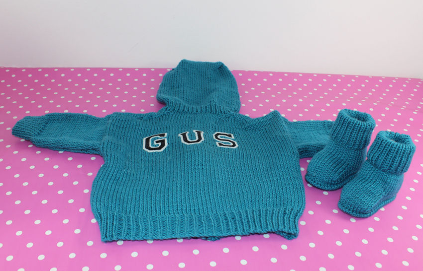 Baby Hoodie Bomber Jacket and Booties
