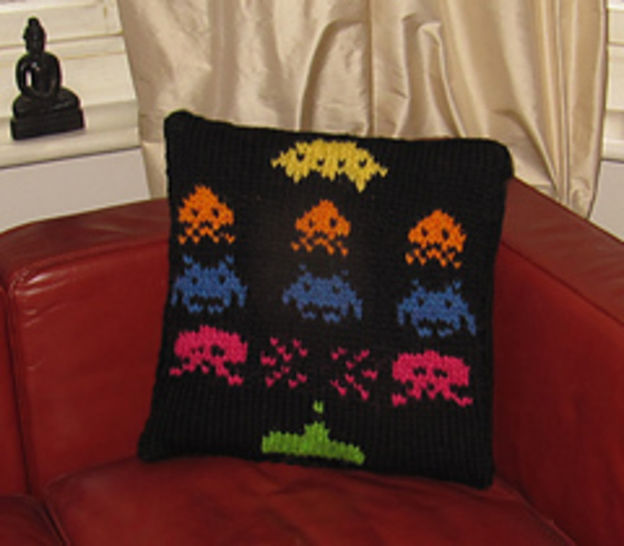 Superfast Retro Space Invaders Cushion Cover
