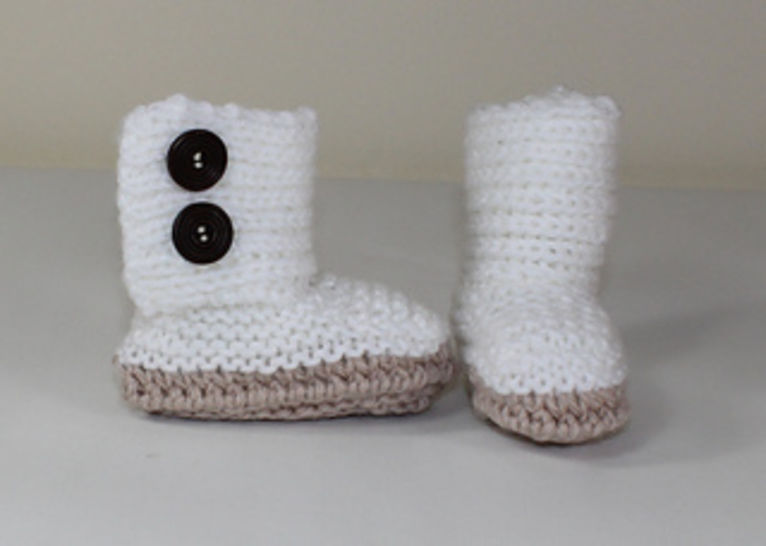 Baby Chunky Button Up Booties