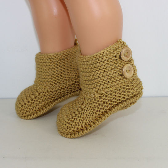 Baby Simple Button Up Booties