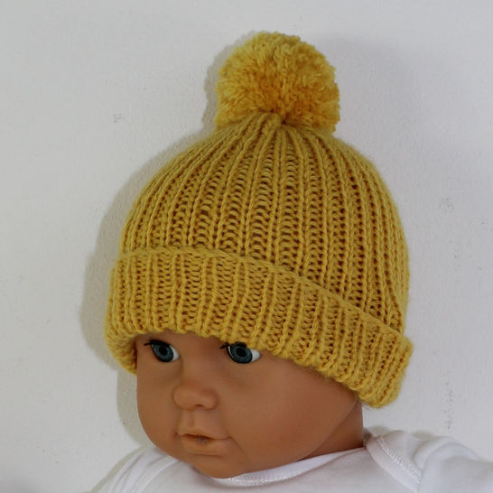 5 Easy Baby Beanies CIRCULAR knitting pattern