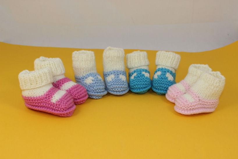 Premature,Tiny and Newborn Baby Sock and Slipper Booties