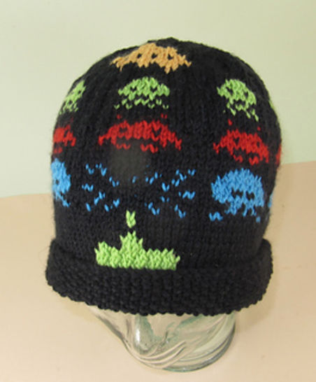 Retro Space Invaders Beanie Hat