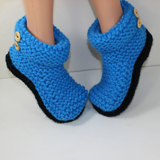 Adult Super Chunky 2 Button Cuff Boots