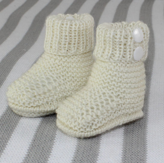 Baby 4Ply 2 Popper Booties