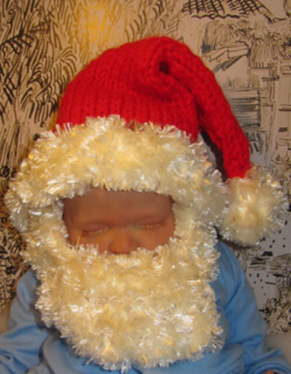 Baby Bearded Santa Christmas Hat