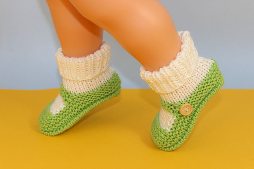 Baby One Button Sock and Slipper Booties