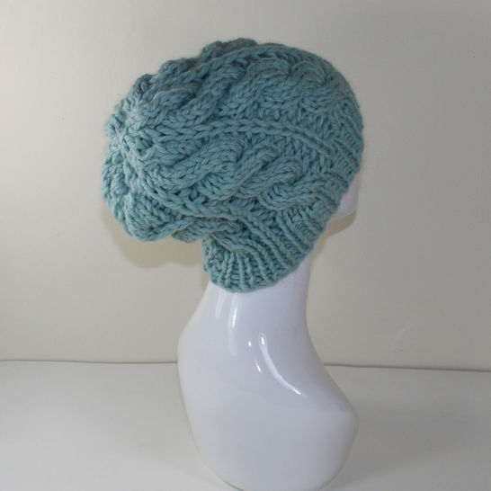 Super Chunky Cable Slouch Hat